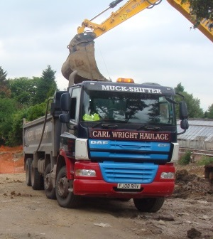 Tippers for muck away operations from Carl Wright Haulage & Plant