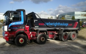 Lorries available to hire from Carl Wright Haulage & Plant